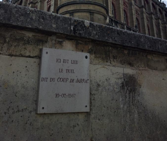 Duel, Coup de Jarnac, Saint Germain en Laye